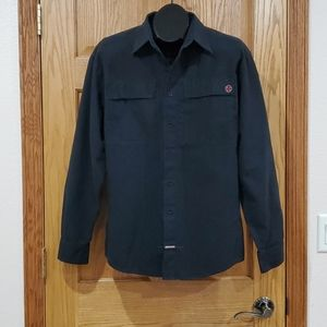 INDEPENDENT Black Button Down Long Sleeve …